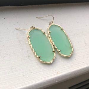 Kendra Scott Gold & Light Blue Danielle Earrings